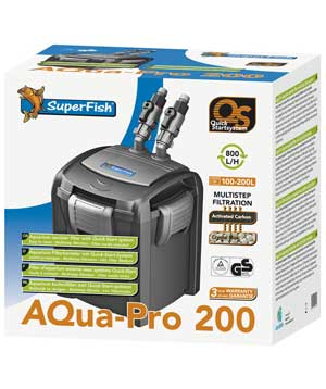 SuperFish Aqua-Pro 200 QS External Filter