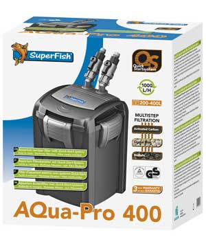 SuperFish Aqua-Pro 400 QS External Filter