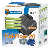 Koi Flow 20 Air Pump Free Airline & Stones.